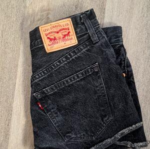 Faded Black Levi Shorts